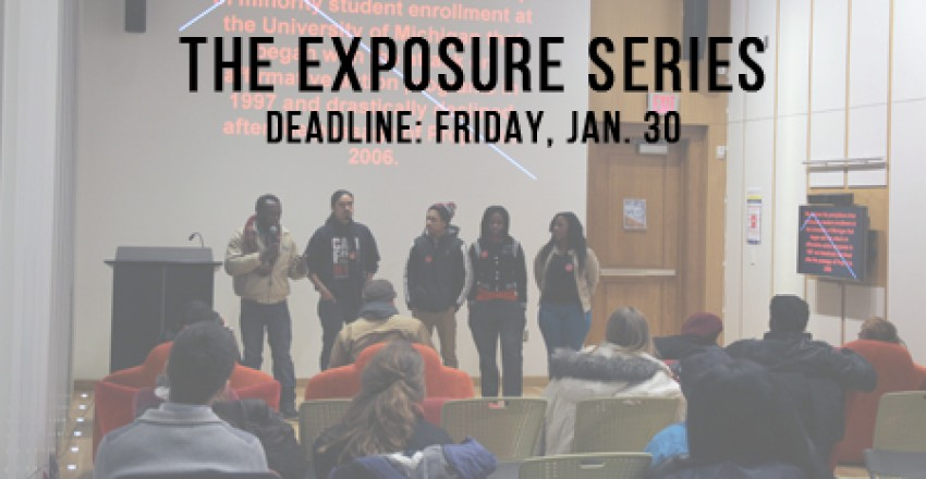 Call for Presenters: The Exposure Series