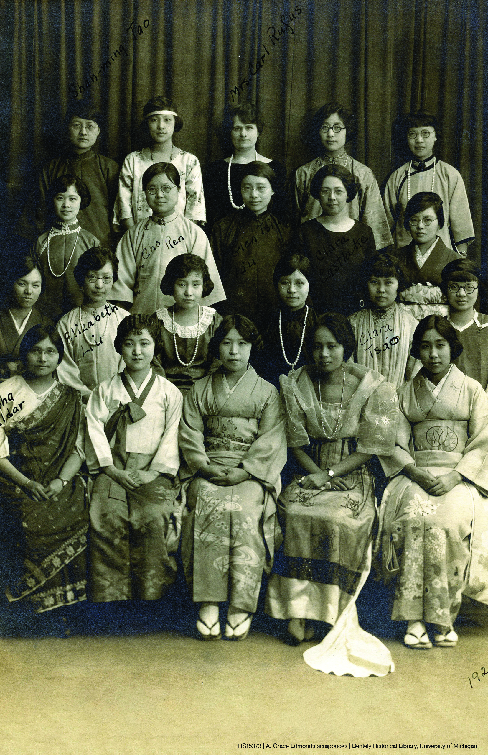 Photo of a group of Barbour Scholars from 1924