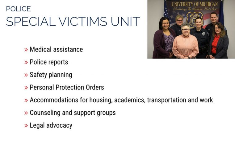Link to DPSS information on the U-M Police Special Victims Unit