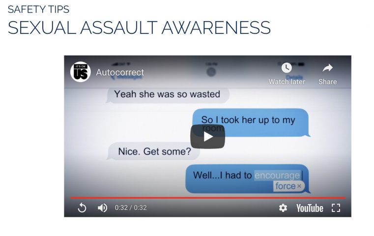 Link to DPSS Sexual Assault Awareness Safety Tips Page